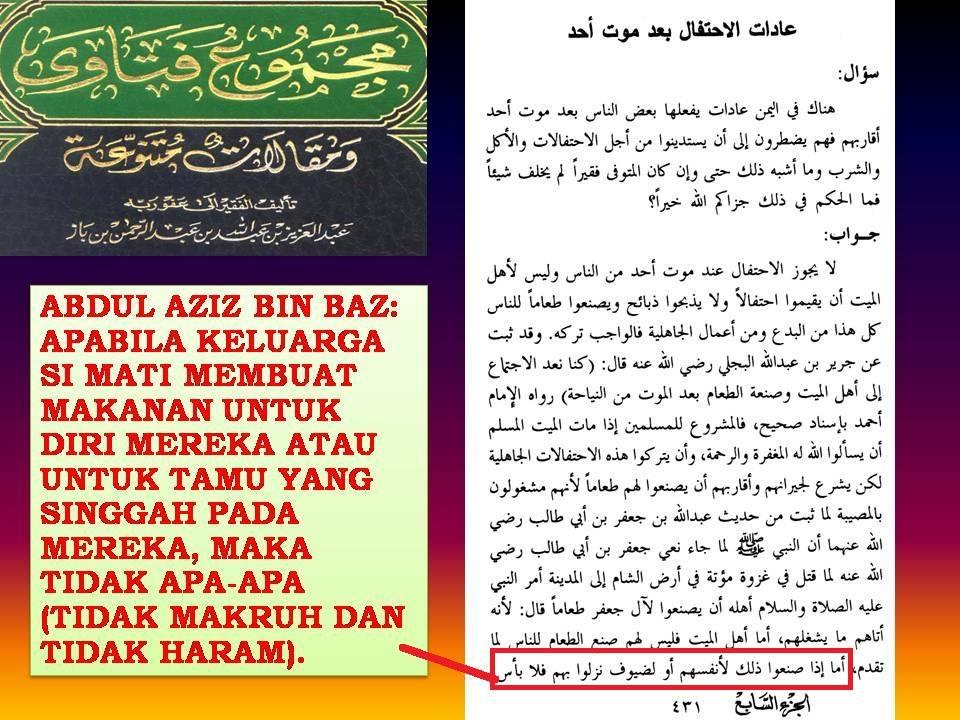 mufti wahabi bolehkan makanan kematian 2