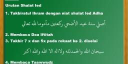 Urutan Shalat Ied