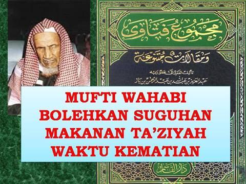 mufti wahabi bolehkan makanan kematian