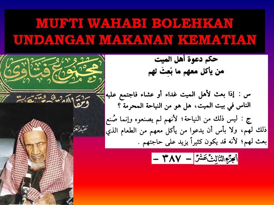 mufti wahabi bolehkan undangan kematian