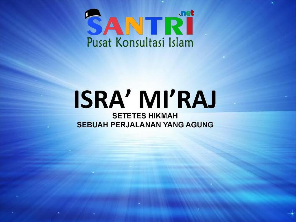 Hikmah-Isra-Miraj