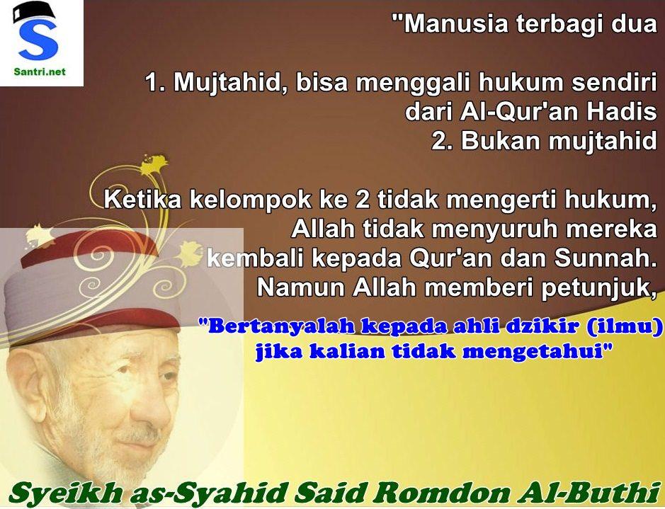 Syeikh as-Syahid Said Romdon Al-Buthi (2)
