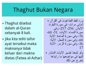 makna Thagut