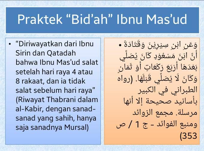 Bidah Ibnu Masud