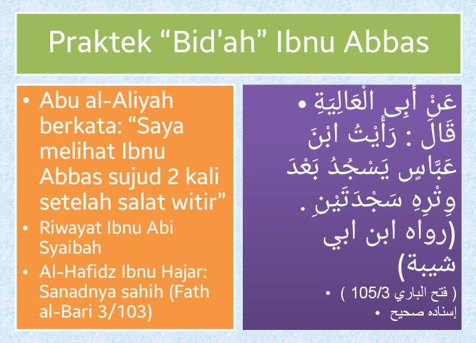 bidah Ibnu Abbas